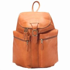 Vachetta Leather Zip-Top Backpack