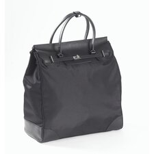 Nylon and Leather Boot Boarding Tote