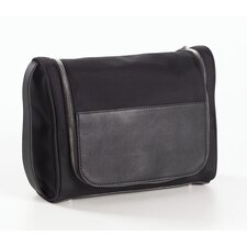 Nylon and Leather Hanging Toiletry Kit