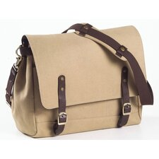 Canvas and Leather Courier Boarding Tote