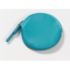 Round Coin Purse in Aqua