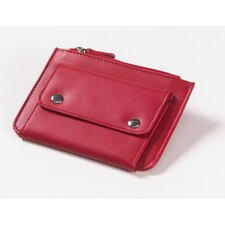 <strong>Clava Leather</strong> Coin Wallet in Red
