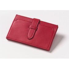 Accordion Business Card Wallet in Red