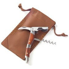 Corkscrew Leather Pouch