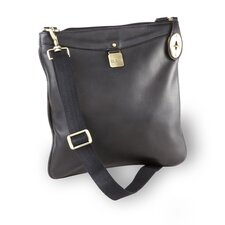 Leather Turnlock Crossbody