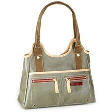 <strong>Clava Leather</strong> Carina Triangle Tote Bag
