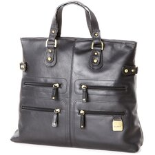 <strong>Clava Leather</strong> Zip Tote Bag