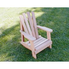 <strong>Creekvine Designs</strong> Cedar Furniture and Accessories Child Size Wide Slat Adirondack Chair