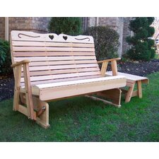 <strong>Creekvine Designs</strong> Country Hearts Wood Garden Bench