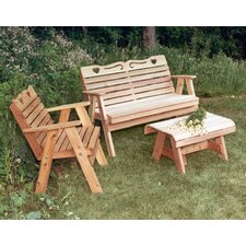 <strong>Creekvine Designs</strong> Cedar Furniture and Accessories 3 Piece Seating Group