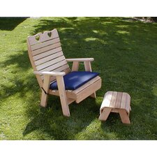 <strong>Creekvine Designs</strong> Cedar Country Hearts Patio Chair and Footrest Set