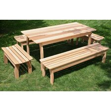 <strong>Creekvine Designs</strong> Cedar Family Dining Set