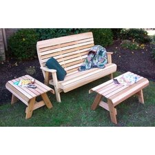 <strong>Creekvine Designs</strong> Cedar Twin Ponds Bench Set