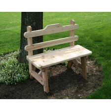 <strong>Creekvine Designs</strong> Cedar Tab Back Bench