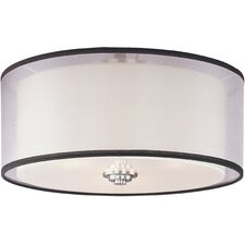 <strong>Taniya Nayak</strong> Banded 3 Light Flush Mount