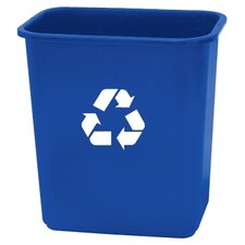 <strong>Rough & Rugged</strong> 28 Quart Blue Recycling Wastebasket