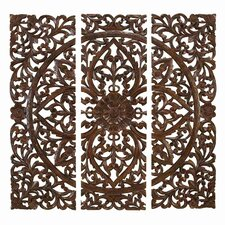 Toscana Carved 3 Piece Wall Décor Set