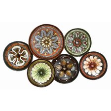 Toscana Six Assorted Plates Wall Décor