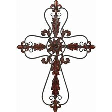 Toscana Flower Shaped Metal Wall Hanging