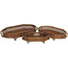 <strong>UMA Enterprises</strong> Toscana Society Metal Trays (Set of 3)