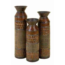 Toscana Metal Table Top Vases (Set of 3)