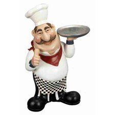 Loft Polystone Chef Statue with Plate