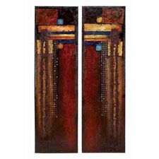 Toscana Lively 2 Piece Original Painting on Canvas Set