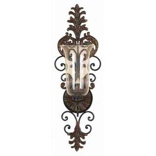 Toscana Metal Glass Sconce
