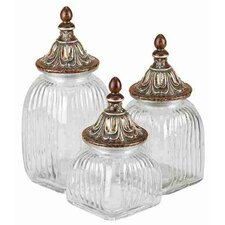 Metro 3 Piece Dancing Decorative Jar Set