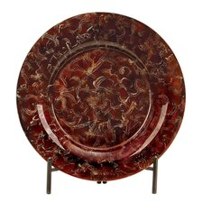 Toscana Glass Plate with Metal Stand