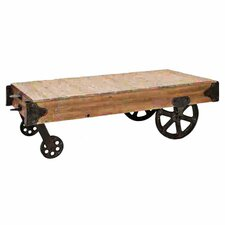 Loft Wood Utility Cart / Coffee Table
