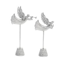 2 Piece Angels with Stand Figurine Set