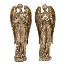 2 Piece Angel Statue Set