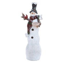 Tall Wood Santa Figurine