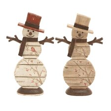 Season Tradition Snowman Figurine (Set of 2)