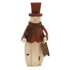 Artic Snowman Figurine with Sled