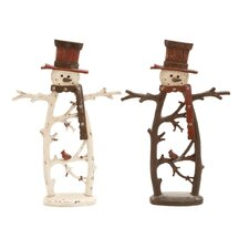 Snowman Figurine (Set of 2)