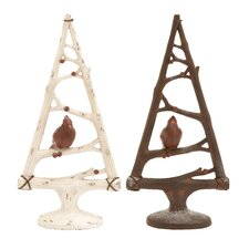 Christmas Tree with Bird (Set of 2)