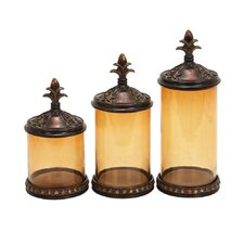 3 Piece Toscana Decorative Jar Set