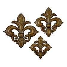 Loft Bronze Flower Metal Wall Décor (Set of 3)