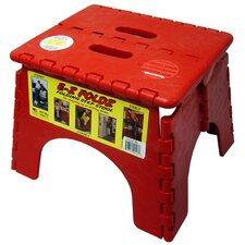 "<strong>B&R Plastics</strong> 9"" x 11.5"" EZ Folds Folding Step Stool in Red"
