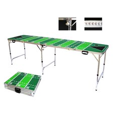 Football Tailgate Beer Pong Table in Standard Aluminum