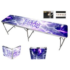 Lightning Beer Pong Table in Black Aluminum