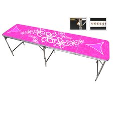 Pink Girls Beer Pong Table in Black Aluminum