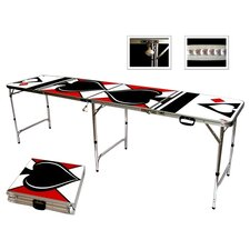 Spades Game Room Beer Pong Table in Standard Aluminum