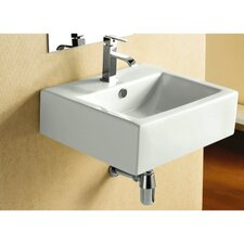 Ceramica Wall Mount Bathroom Sink