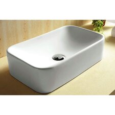 Ceramica Rectangular Vessel Bathroom Sink