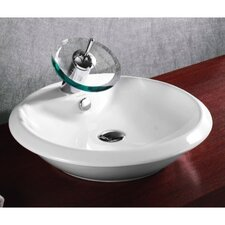 Ceramica Round Vessel Bathroom Sink