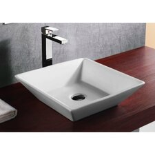 <strong>Caracalla</strong> Ceramica Square Vessel Bathroom Sink