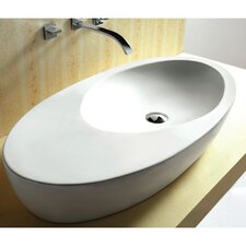 Ceramica Oval Vessel Bathroom Sink